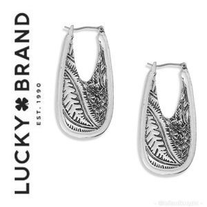 Lucky Brand🍀 ST Floral Embossed Oval Earrings